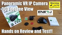 ENER-J Panoramic VR WIFI IP Security Camera, 1.3MP, 360 Degrees View [Hands on Review and Test]
