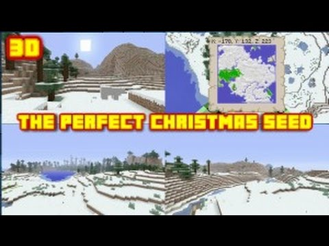 Minecraft Seed Showcase Biggest Snow Biome Ever! + Ocean Monument! (Christmas Seed)