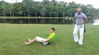 Técnica de Queda com Defesa- Mestre Myag Bôll Capoeira