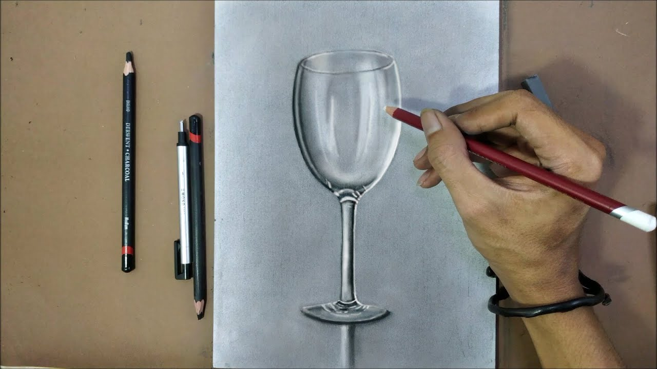 Drawing 3D Realistic GLASS With Pencils