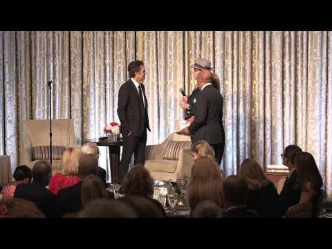 Richard Sandor Presents a Proclamation to Mark Ruffalo