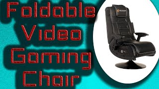 X Rocker Pro Series Vibrating Black Leather Foldable Video Gaming Chair 2020