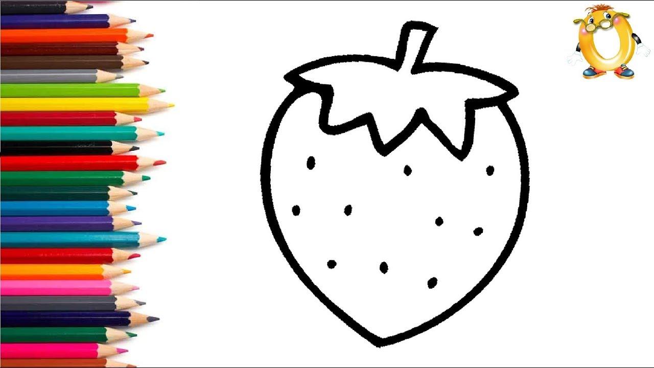 раскраска для детей ягода мультик раскраска учим цвета