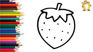 Раскраска для детей ЯГОДА. Мультик - Раскраска. Учим цвета.
