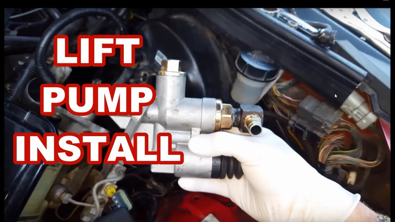 Dodge cummins 12v Lift    pump    install tipsoverview 6BT  YouTube