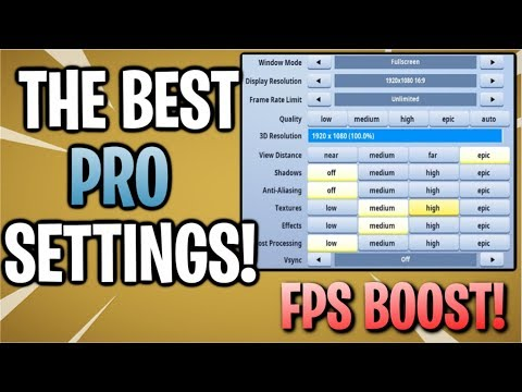 Fortnite: Best Competitive Settings! | Options For Pc & Console