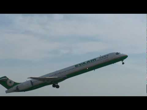 Eva Airways Corporation MD-90-30(B-17925) takes off from RCKH