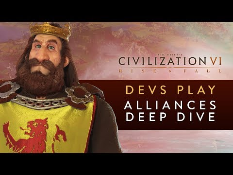 Civilization VI: Rise and Fall - Devs Play Scotland (Alliances Deep Dive)