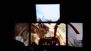 BF4 quadruple monitors (four LCD) without battlescreen