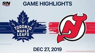 NHL Highlights   Maple Leafs vs. Devils – Dec. 27, 2019