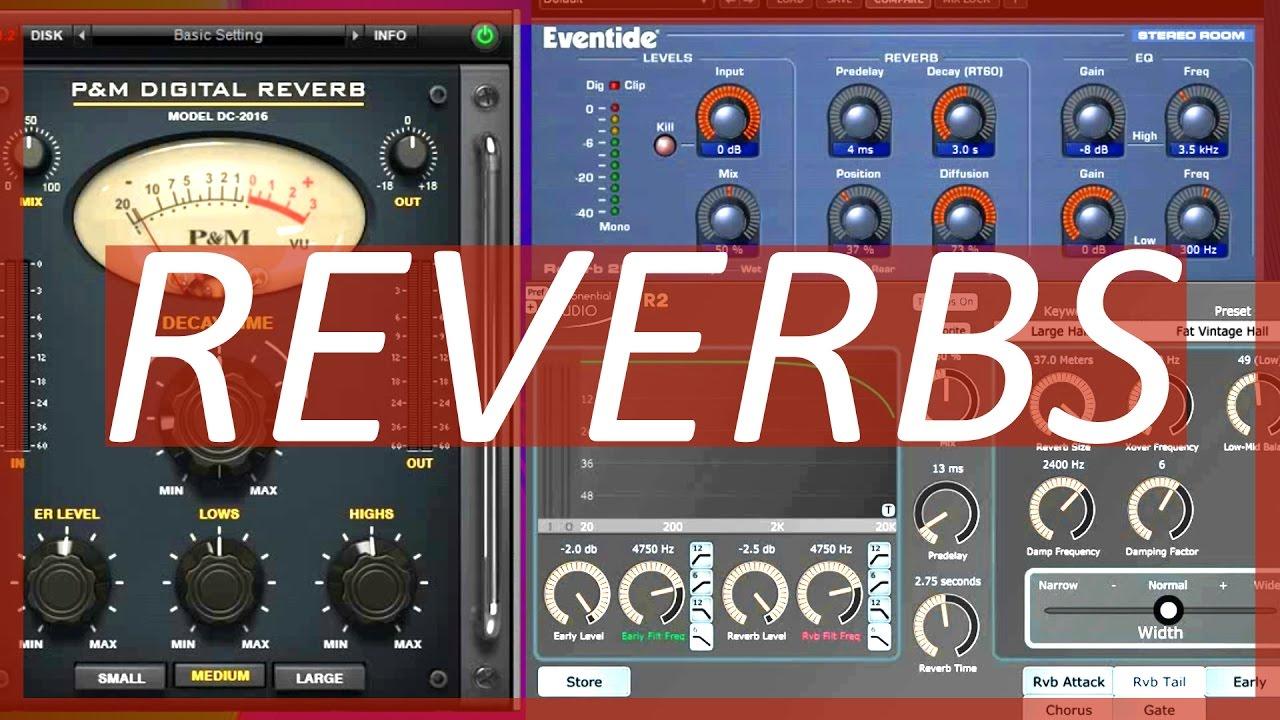 Reverb Plugin Comparison | Eventide vs Exponential Audio vs P&M