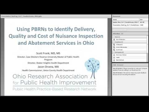 10-7-2015 Using PBRNs: Identify Delivery, Quality & Cost of Nuisance Inspection & Abatement Services