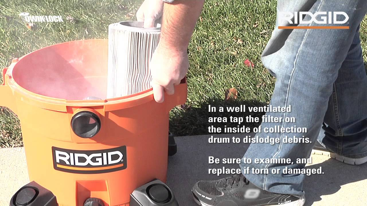 How To Access Clean And Replace Your Ridgid Wet Dry Vac