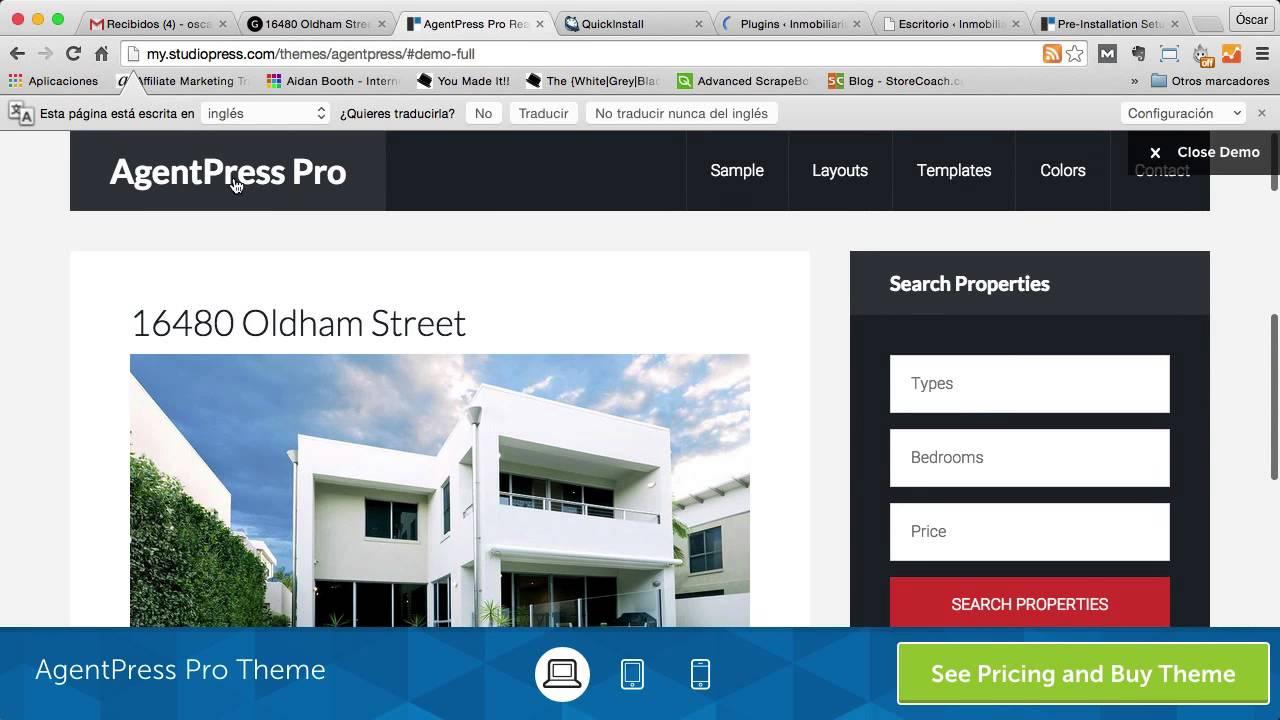 Hacer Web para una Inmobiliaria con la Plantilla AgentPress Pro en ...