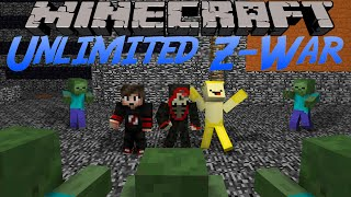 Oops Club Minecraft Unlimted Z-War - Tập 1: AK-47 Sấy Zombie !!