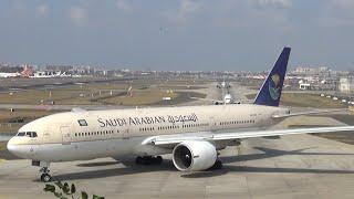 Saudia | Boeing 777-200 | Landing,Taxi,Take-off | Mumbai Airport thumbnail