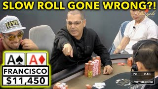 SLOW ROLLING Gone Wrong?! ♠ Live at the Bike!