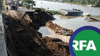 Thiếu nước, sạt lở đất ở Đồng Bằng Sông Cửu Long