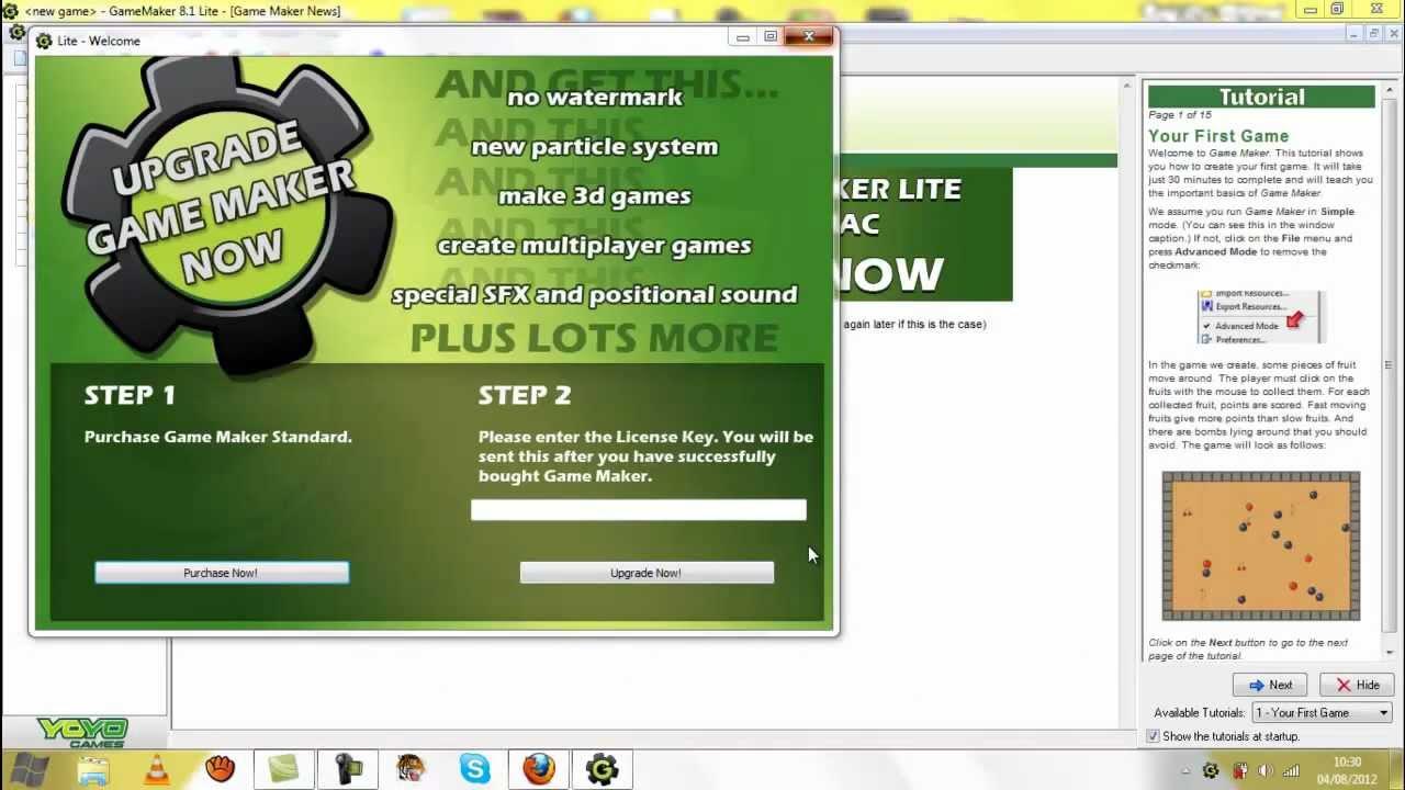 license key for game maker 8.1 lite