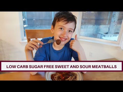 Low Carb Sugar Free Sweet And Sour Meatballs,