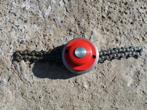 Chain Trimmer Head II- THE BEST BRUSH CUTTER| Disc motocoasa cu lant Ruris DAC310