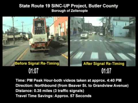 State Route 19 SINC-UP Project (Zelienople-Butler County) PM Peak Northbound