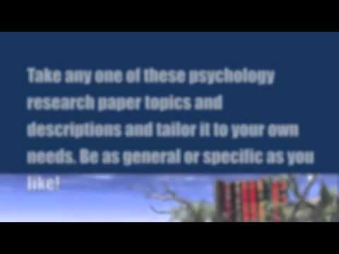 Paper Masters - Psychology Research Papers