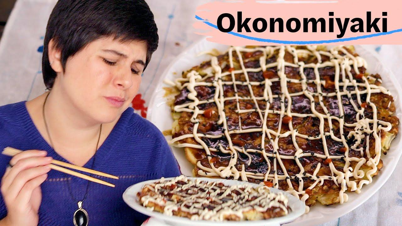 COMO FAZER OKONOMIYAKI (panqueca de repolho japonesa) DELICIOSA!