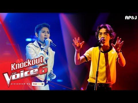 Knock Out : แพรว - อย่าพูดเลย VS ไม้หมอน - บันไดสีแดง  - The Voice Thailand 6 - 7 Jan 2018