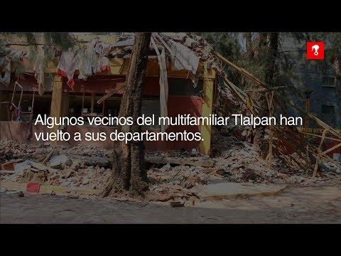 Vecinos del Multifamiliar Tlalpan a cuatro meses del sismo