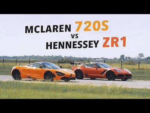 Hennessey ZR1 vs McLaren 720S Roll Racing