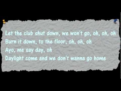 Jason Derulo - Dont Wanna Go Home - Lyrics on Screen