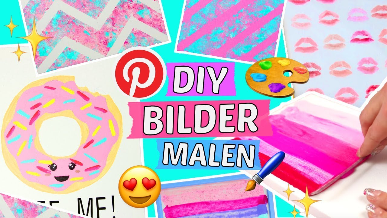5 easy BILDER MALEN DIYs 🎨 Geniale WAND DEKO IDEEN selber machen ...