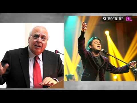 When Kapil Sibal turned a lyricist for AR Rahman's song