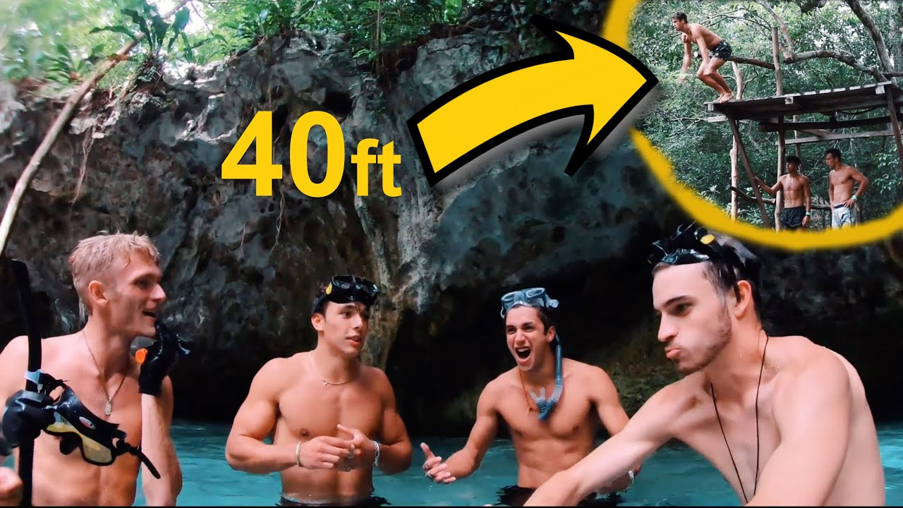 EPIC CLIFF JUMPING IN THE MAYAN JUNGLE