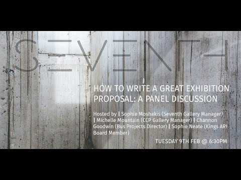 "Seventh Talks: ""How to write a great exhibition proposal"""