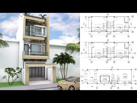 4 Bedrooms Narrow Lot House Design with SketchUp 4