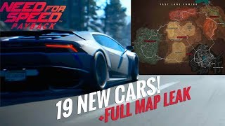 Need For Speed Payback : All New Spotted/Leaked Cars [19] & Complete Map!