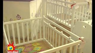 Woody Wood Kids Furniture (kanavu Illam Kalaigner Tv)