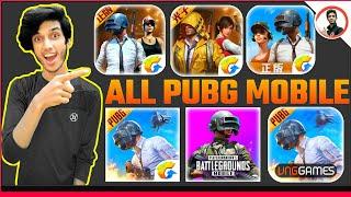 All PUBG MOBILE :- PUBG Mobile VNG /  PUBG Mobile kr / PUBG Mobile TW / Timi PUBG Mobile / Game For