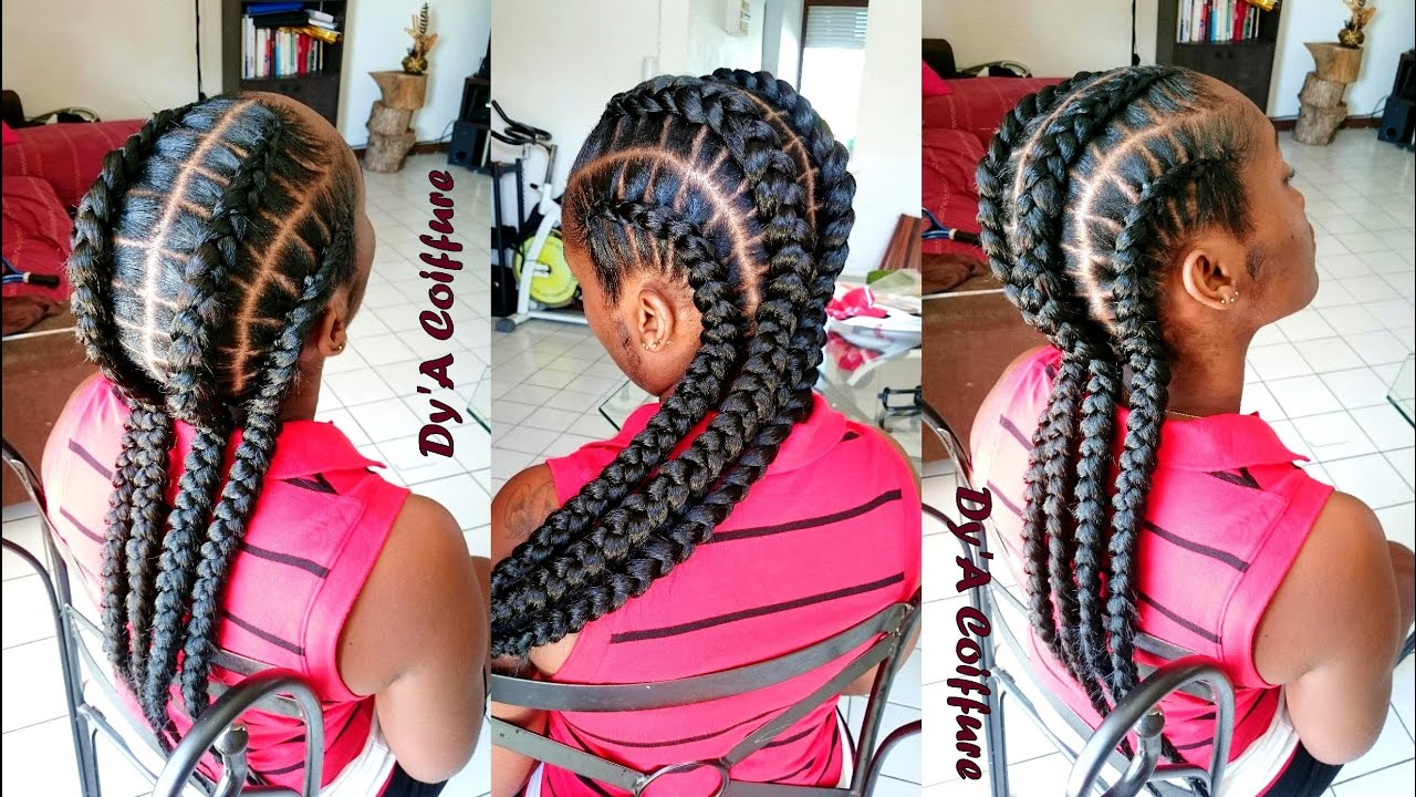 Favorit HOW TO ☆ 4 feed in stitch braids - By Dy'A - YouTube HM02