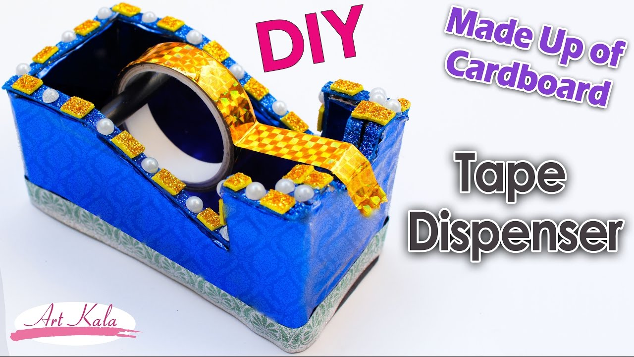 Sew A Toy Car Holder : Diy tape dispenser recycling cardboard best out of