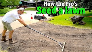How to Plant a yard & Grow a lawn - Like a PRO! Grass seeding, Lawn REPAIR, overseeding,