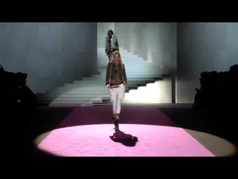 Caroline Trentini opening Dsquared² Autumn Winter 2015/2016 Fashion Show