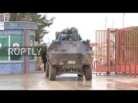 Turkey: Military vehicles cross Turkish-Syrian border as operation 'Olive Branch' continues