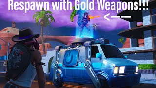 *CUSTOM* RESPAWN LOADOUT in the NEW REBOOT VAN in Fortnite Creative using THIS GLITCH! Season 8 8.30