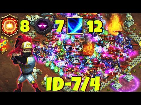 12/12 RONIN | +20% Acc | 7 Unholy Pact - 8/8 Scorch | INSANE DUNGEON 7/4 | CASTLE CLASH