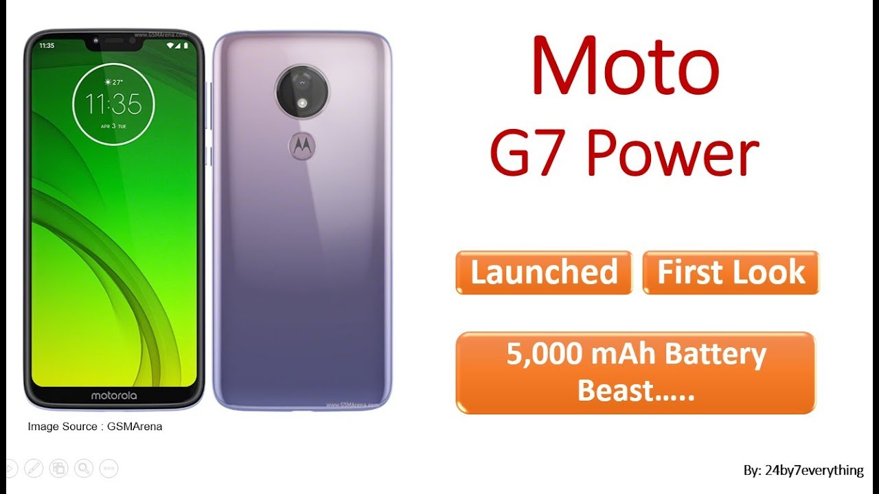 Motorola Moto G7 Power - Launched and First Look/Impression (#MotoG7Power  #Moto #G7 #Power)