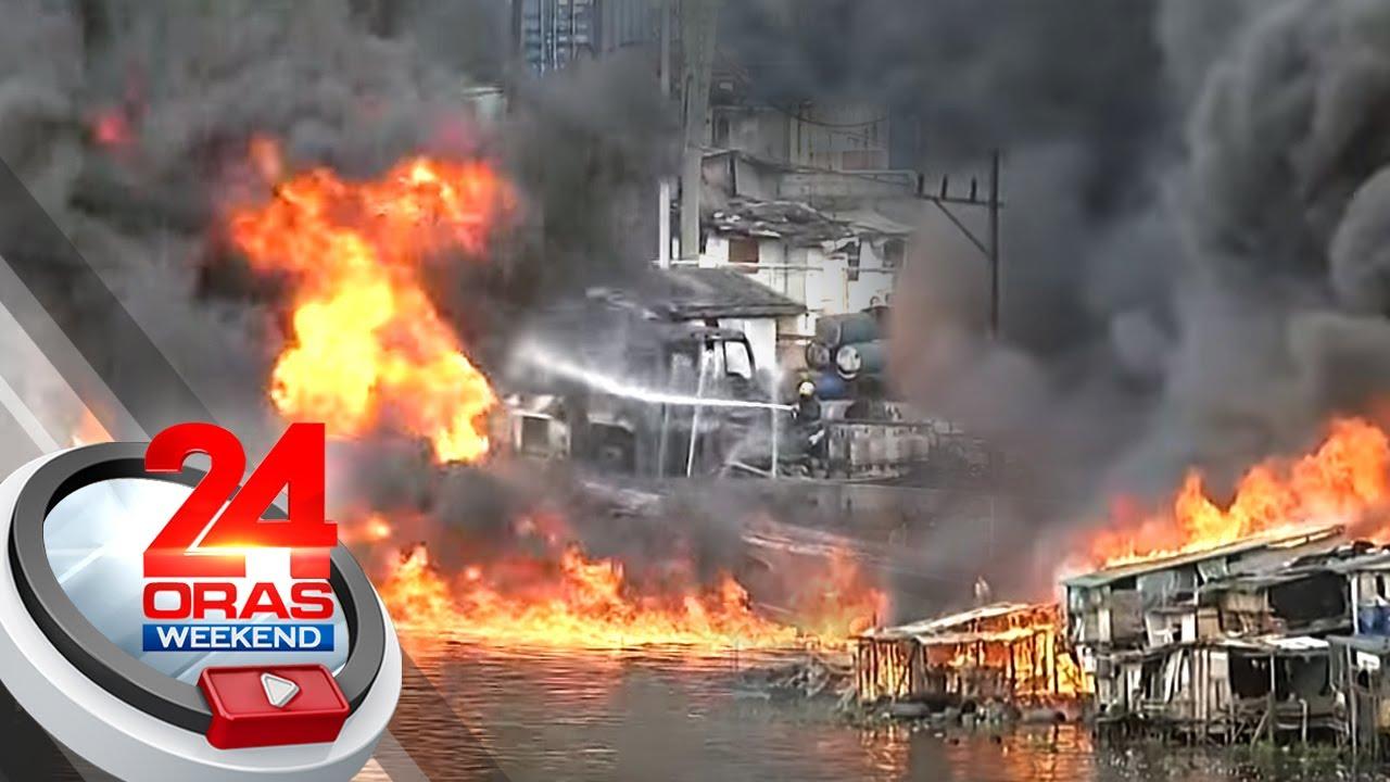 Fire hits cargo vessel at Delpan Bridge in Tondo, at least 3 hurt | 24 Oras Weekend