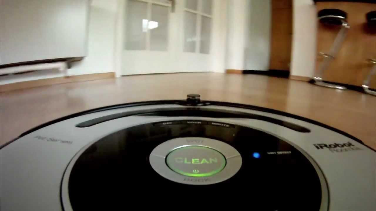 irobot roomba der staubsauger roboter im test youtube. Black Bedroom Furniture Sets. Home Design Ideas